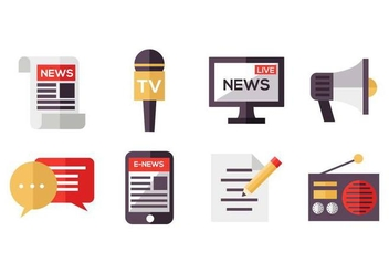 Free Mass Media Icons Vector - vector gratuit #443683