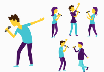 Vector People Singing - Kostenloses vector #443693