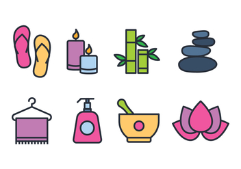 Spa Icon Set - vector #443703 gratis