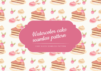 Vector Watercolor cake Seamless Pattern - Kostenloses vector #443873