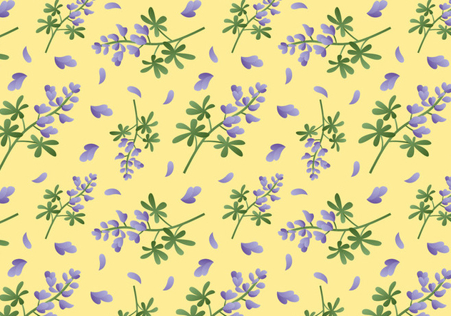 Bluebonnet Flower Pattern - vector gratuit #443903