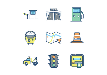 Free Road Traffic Icons - vector gratuit #443913