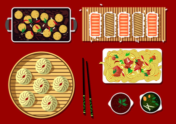 Japanese Dim Sum Free Vector - Free vector #443933