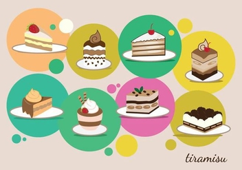 Dessert Collection - vector gratuit #444073