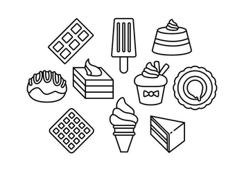 Free Sweet Food Line Icon Vector - Free vector #444083