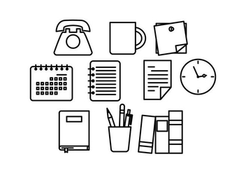 Free Office Line Icon Vector - Kostenloses vector #444093