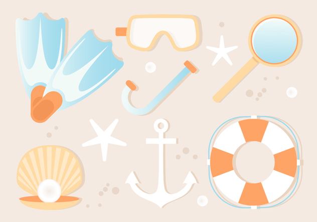 Free Summer Beach Elements Background - Kostenloses vector #444153