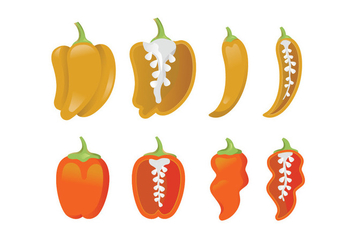 Vector icons of habanero - Free vector #444213