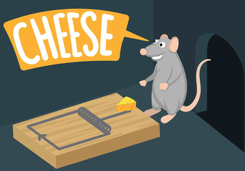 Mouse Trap Illustration Vector - бесплатный vector #444233