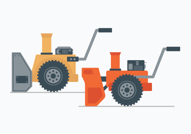 Snow Blower Illustration - бесплатный vector #444263