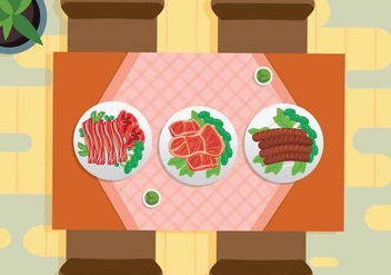 Free Charcuterie View From Top Illustration - Free vector #444273