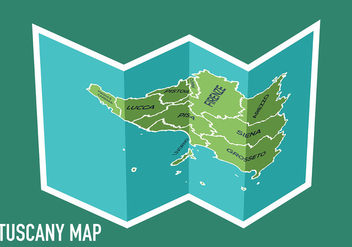 Tuscany Map Vector - бесплатный vector #444283