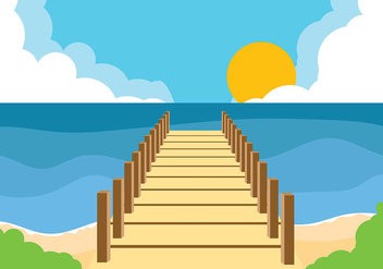 Boardwalk Background Vector - бесплатный vector #444293