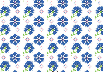 Bluebonnet Flowers Pattern Vector - Free vector #444303