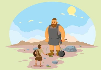 Free David and Goliath illustration - бесплатный vector #444323