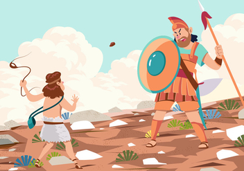 Goliath Defeated By David - vector gratuit #444373