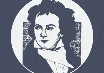 Vintage Illustration of Beethoven - Kostenloses vector #444423