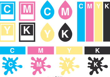 CMYK Vector Elements Collection - vector gratuit #444433