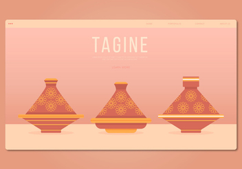Tajine Moroccan Traditional Food Illustration. Web Template. - vector #444473 gratis