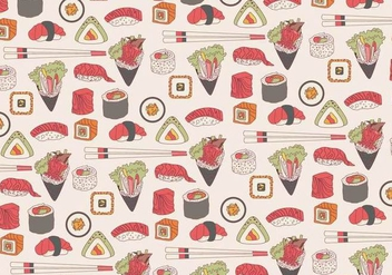 Temaki Pattern Vector - бесплатный vector #444493