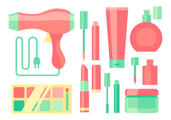 Make Up Equipment Free Vector - vector gratuit #444513