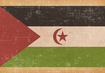 Old Grunge Flag of Western Sahara - Kostenloses vector #444583