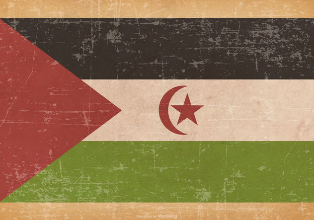Old Grunge Flag of Western Sahara - vector gratuit #444583