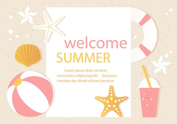 Free Vector Summer Time Illustration - Kostenloses vector #444603
