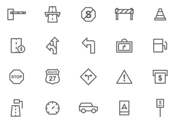 Free Toll and Traffic Sign Vectors - vector gratuit #444613