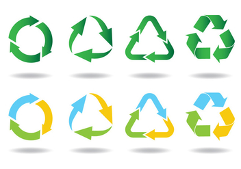 Recycle Icon - vector #444623 gratis