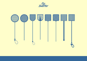 Fly Swatter Blue Icons Free Vector - vector #444683 gratis