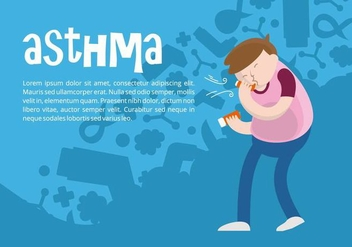 Asthma Background - Kostenloses vector #444693