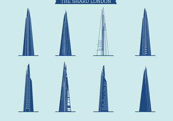 The Shard of London Vector Set - vector gratuit #444713