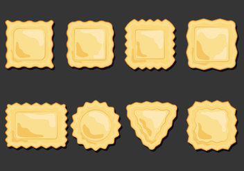 Ravioli Pasta Icons Set - Free vector #444783