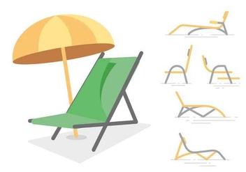 Free Unique Lawn Chair Vectors - Free vector #444813