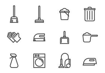 Cleaning Tools Icon - vector gratuit #444823
