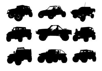 Offroad Silhouette Free Vector - Free vector #444913
