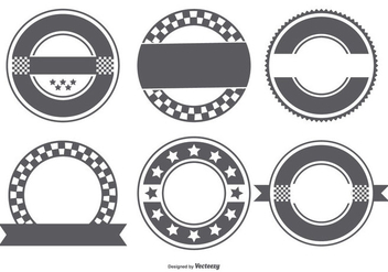 Blank Retro Badge Shapes Collection - vector gratuit #444963