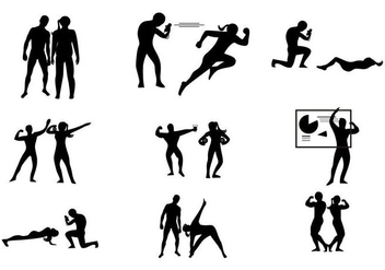 Free Gym Personal Coach Trainer Vector - бесплатный vector #444973