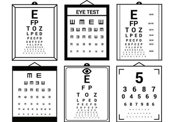 Eye Test vector set - vector gratuit #444983