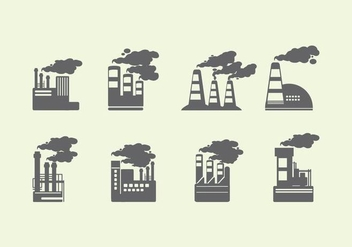 Smoke Stack Icon - vector gratuit #444993