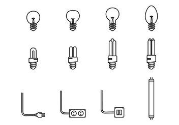 Led Lights Icon - vector gratuit #445003