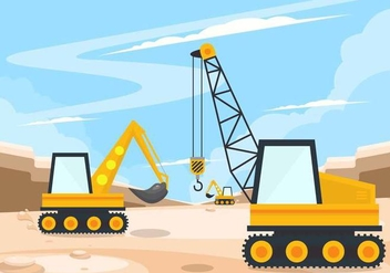 Heavy Equipment Vector - Kostenloses vector #445023