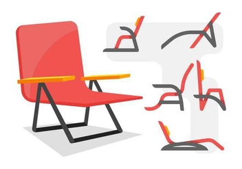 Free Unique Lawn Chair Vectors - Free vector #445043