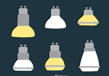 Flat Led Light Lamp Collection Vectors - vector gratuit #445083