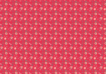 Ditsy Red Background Free Vector - Kostenloses vector #445163