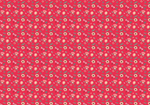Ditsy Red Background Free Vector - vector gratuit #445163