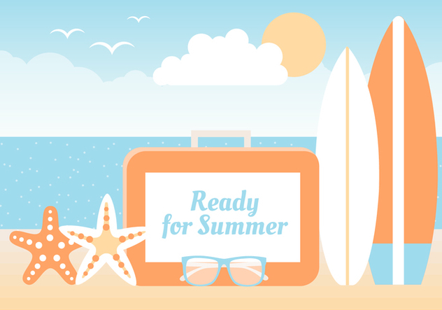 Free Summer Beach Elements Background - Kostenloses vector #445303