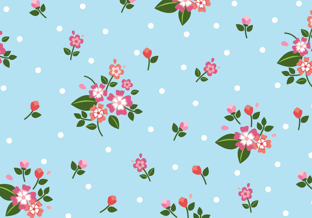 Floral Seamless Pattern - vector gratuit #445313