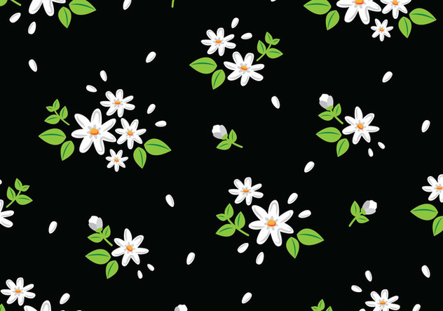 Floral Seamless Pattern - vector gratuit #445323